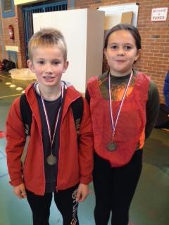 Nos deux champions : Romain et Anaïs